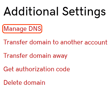 select select manage dns